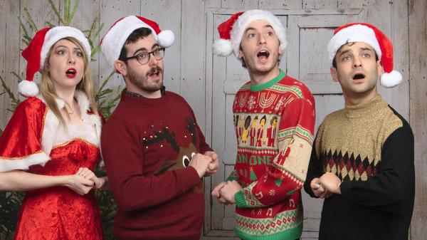 Charly Bliss' Christmas sweater game is on-point.