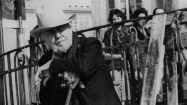 Ezra Pound poses in Rapallo, Italy, not long after his 1958 release from St. Elizabeths Hospital, where he spent 12 years.