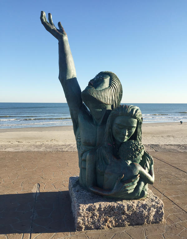 A memorial was placed on the Galveston Seawall to commemorate the 1900 Storm that killed 6,000 to 12,000 people  — the worst natural disaster in U.S. history.