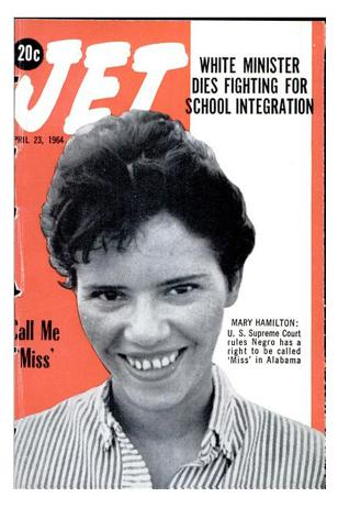 Mary Hamilton made the cover of <em>Jet </em>after her Supreme Court victory.