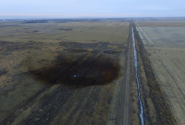 The pipeline on rural farmland near the small community of Amherst, S.D., was likely damaged when it was installed in 2008, federal investigators say.