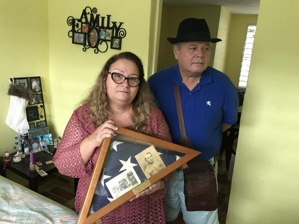 Irma Rivera Aviles and her husband Ivan Martínez live in a tight-knit working-class community called El Pueblito in Cataño. Their community flooded during Hurricane Maria leaving their house damaged with a hole in the roof.