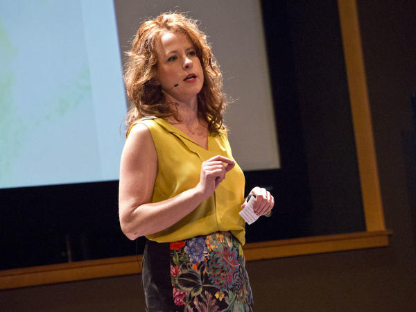 Leilani Schweitzer on the TED stage