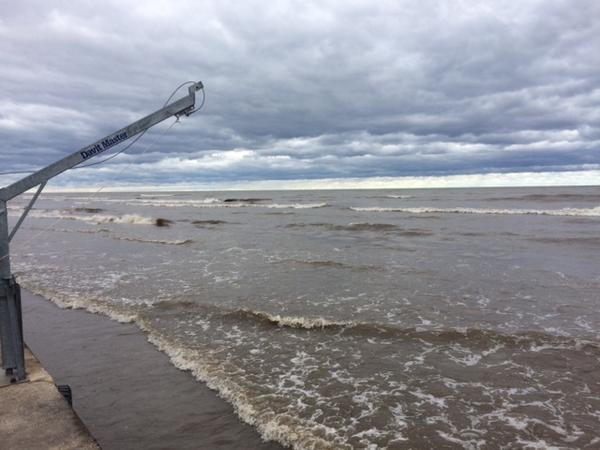 Beach along Lake Ontario has been flooded for months.