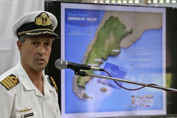 Argentine navy spokesman Enrique Balbi announced Thursday that searchers no longer expect to find survivors of the missing ARA San Juan submarine.