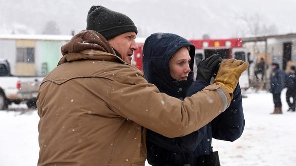 Jeremy Renner and Elizabeth Olsen star in <em>Wind River.</em>