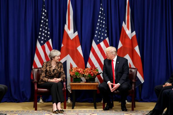 "In September, President Trump meets with British Prime Minister Theresa May, who says the group whose videos Trump retweeted this week ""seeks to divide communities through their use of hateful narratives that stoke tensions."""