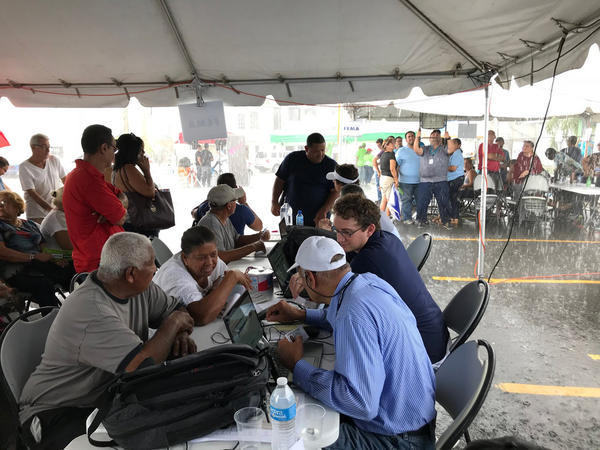 Hurricane victims in Puerto Rico filed disaster relief applications online through a roving mobile hotspot that FEMA, Kymeta, Liberty Global and other partners collaborated on.