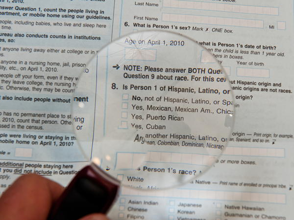 The 2010 census form included separate questions about race and Hispanic origin. The White House has yet to announce its decision on a proposal that would allow race and ethnicity to be asked in a single, combined question on the 2020 census.