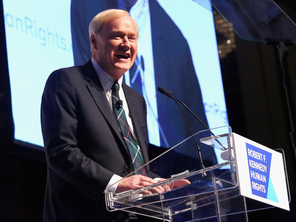 Chris Matthews speaks onstage at the 2015 Ripple Of Hope Awards in December 2015 in New York City.