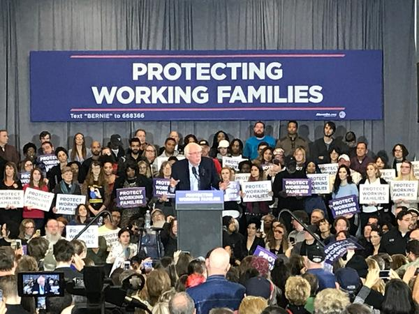 "At the evening rally in downtown Akron, Sen. Bernie Sanders was joined by representatives from Planned Parenthood, MoveOn.org, and Kent State College Democrats, among others. Former Ohio Sen. Nina Turner called the GOP tax plan a ""trickle-down trick."""