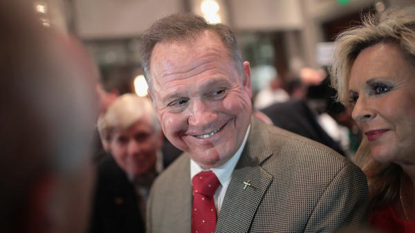 Roy Moore, the Republican candidate for the U.S. Senate in Alabama, is getting a boost from President Trump, who unlike other Republicans is backing his Senate bid despite sexual assault allegations.