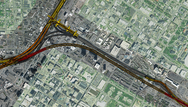 A rendering from the study conducted by engineering consultant WSP that shows the Orange Alternative, deemed the best of the tunnel options.
