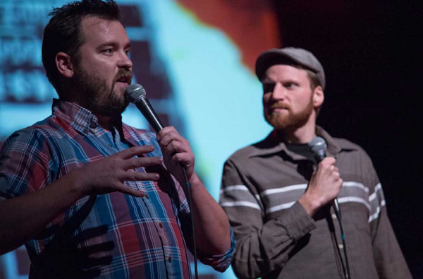The founders of the Found Footage Festival, Joe Pickett (left) and Nick Prueher (right).