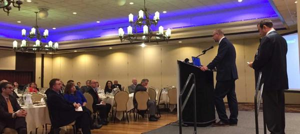 Jason Segedy addresses Akron Press Club Luncheon