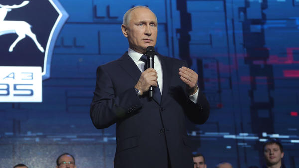 Russian President Vladimir Putin announced his re-election bid during a visit to the GAZ car factory in Nizhny Novgorod.