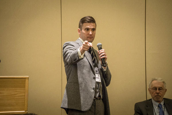 Richard Spencer speaking in November, 2016.