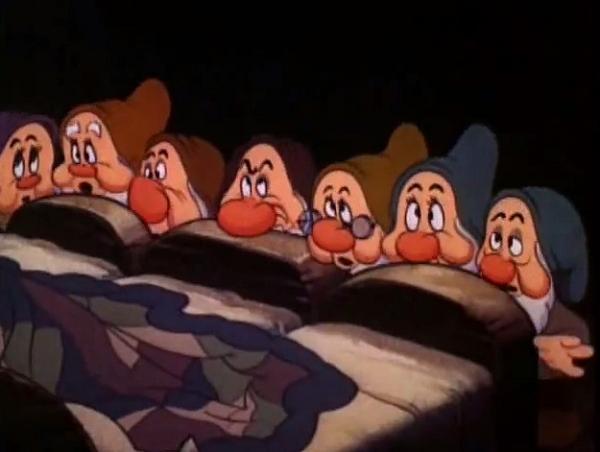 Still from Snow White feat. Seven Dwarfs, 1937