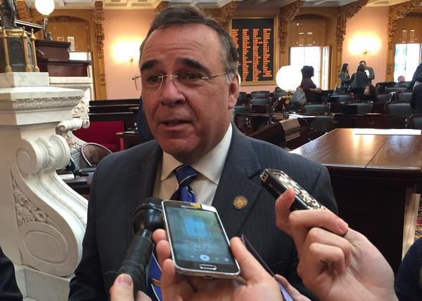 Rep. Kirk Schuring (R-Canton) talks about his unemployment compensation fund overhaul bill that has yet to get much support from labor or business groups.