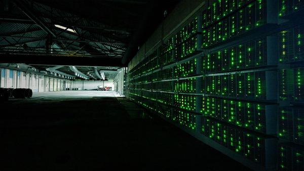 File photo. Bitcoin mining involves banks of computers at server farms that use huge amounts of electricity.
