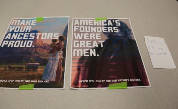 "<p>A recent round of posters reading ""It's OK To Be White"" were posted around Clark College, a community college in Vancouver, Washington.</p>"