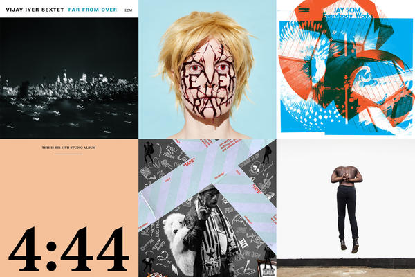 A selection of NPR Music's best 50 albums of 2017. (Clockwise from upper  left
