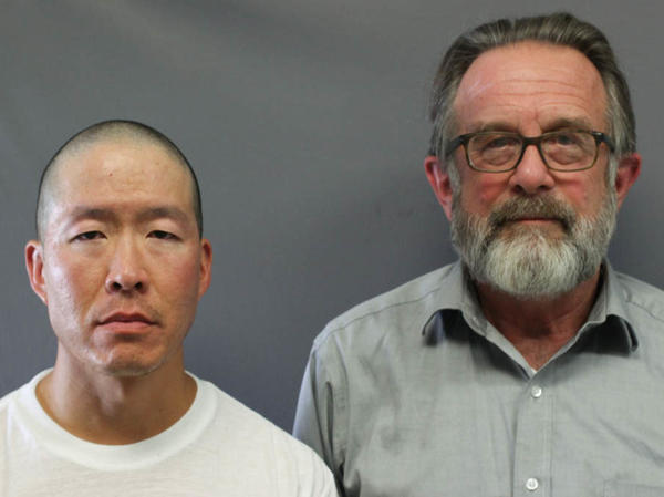 Wayne Lo (left) is serving two life sentences at a Massachusetts prison for killing two people, including Greg Gibson's (right) son, Galen.