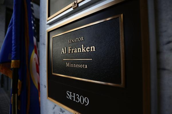 The sign of U.S. Sen. Al Franken's office is seen on Capitol Hill Dec. 7, 2017 in Washington, D.C. (Alex Wong/Getty Images)