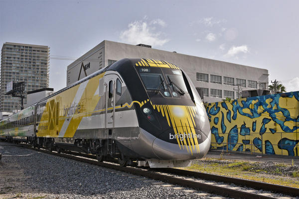 All Aboard Florida's Brightline rail service opens in the state this month, with trains running between West Palm Beach and Fort Lauderdale. (Courtesy of Brightline)