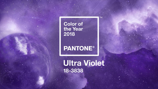 "Pantone has picked the ""color of the year"" for 2018 — a vivid purple."