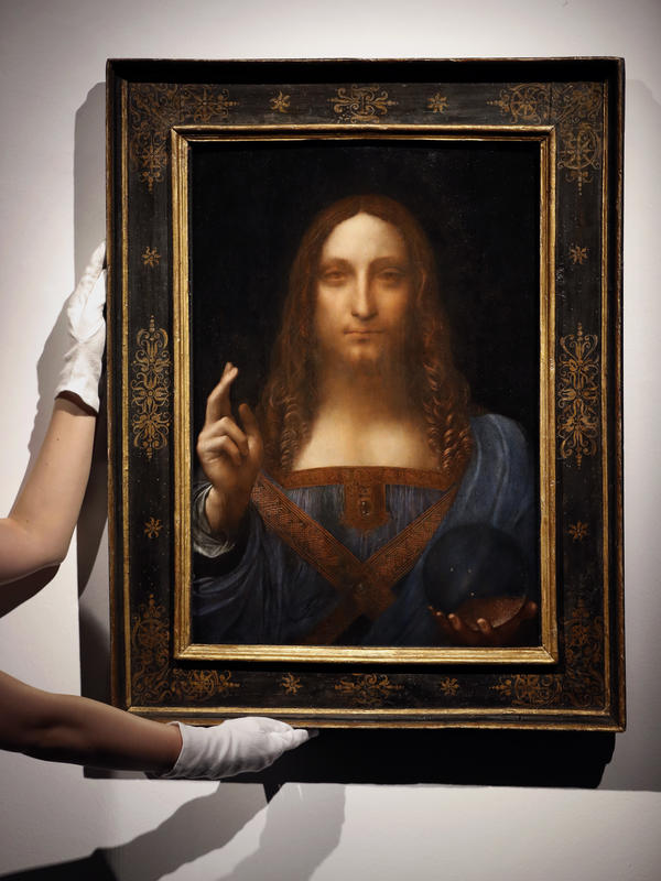 Leonardo da Vinci's <em>Salvator Mundi</em> was bought at auction in October by a Saudi prince.