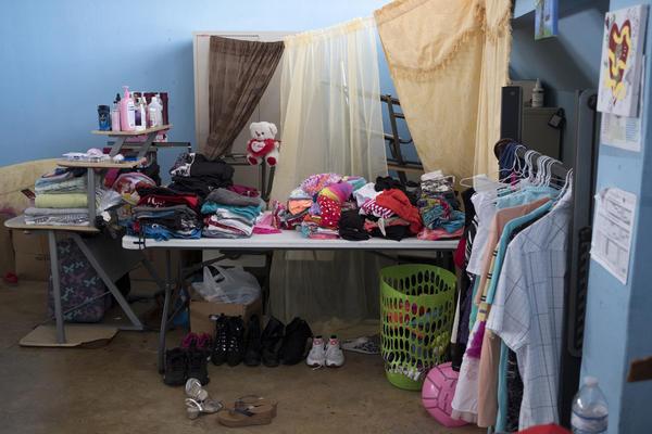 Personal possessions are organized at Liberata Iraldo.