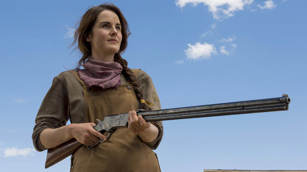 Michelle Dockery plays a rancher and single mom in Netflix's <em>Godless</em>.