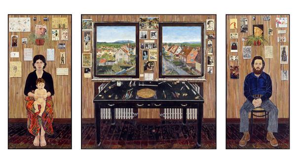 <em>The Fulbright Triptych</em> by Simon Dinnerstein.