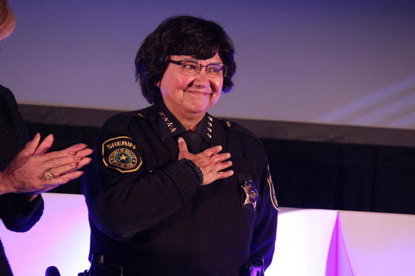 Dallas County Sheriff Lupe Valdez at the Annie's List luncheon in Dallas last month.