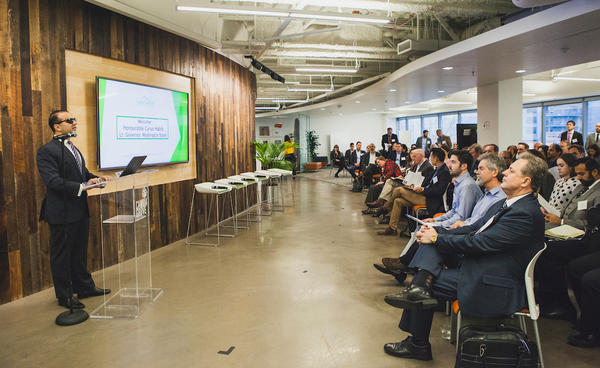 Washington Lt. Gov. Cyrus Habib welcomed business accelerators, government, public universities and industry representatives to the launch of the Cascadia Venture Acceleration Network in Seattle Friday.