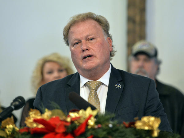 At his church on Tuesday, Kentucky state Rep. Dan Johnson defended himself against accusations that he sexually assaulted a 17-year-old girl in January 2013.