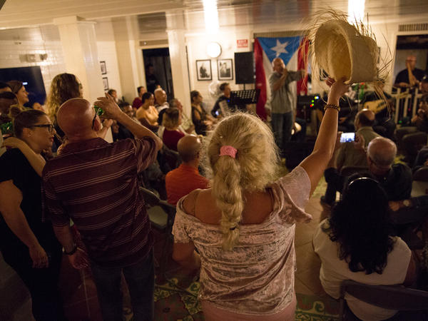 The free concerts at the Casa Histórica de la Música Cayeyana have had a special resonance after Hurricane Maria, as attendees find respite there on the weekends amid the recovery effort.