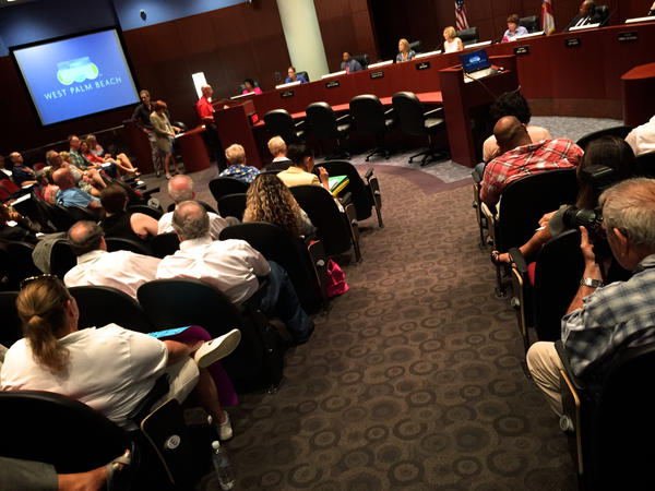 "West Palm Beach City Commission hears comments from citizens on a proposal to declare West Palm Beach a ""Welcoming City"" for immigrants on Mar. 27, 2017."