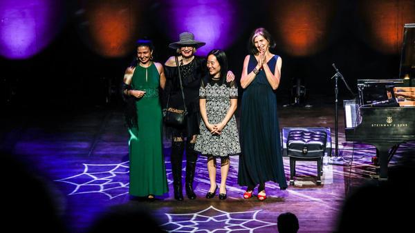 Abelita Mateus, Marcia Ball, Helen Sung and Joanne Brackeen were this year's <em>A </em><em>Jazz Piano Christmas</em> guests.