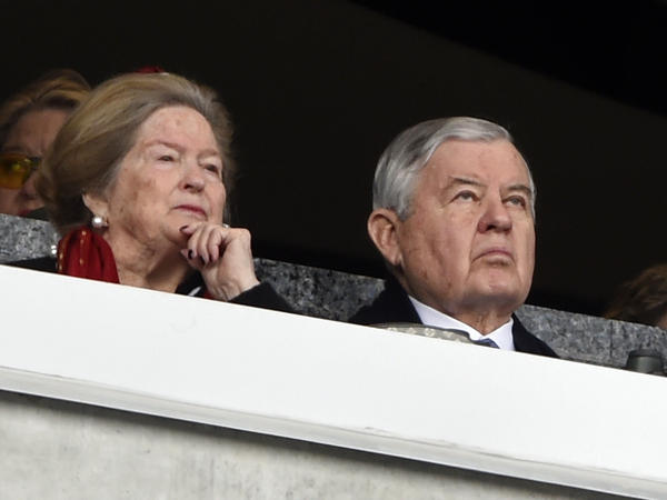 Carolina Panthers owner Jerry Richardson watches the action during the first half of an NFL football game between the Carolina Panthers and the Green Bay Packers in Charlotte, N.C., on Sunday.