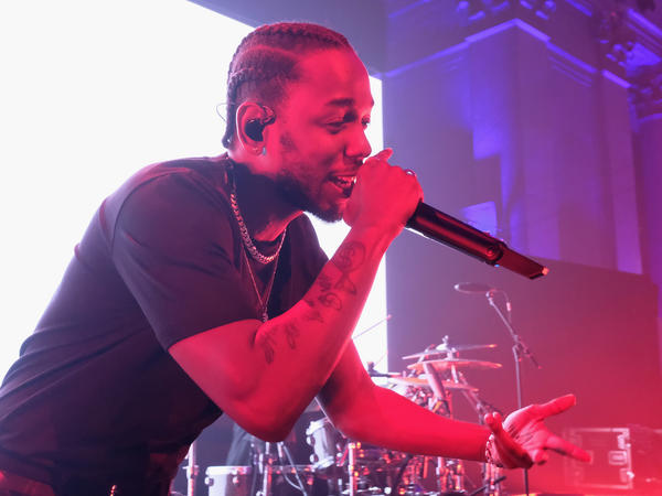 Kendrick Lamar performs in New York City on Sept. 14, 2017. Critic Ken Tucker says Lamar's album <em>DAMN </em>captured the collective mood of the year.<em> </em>