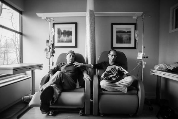 """Dad called these """"his and hers chairs."""" He would sit beside Mom, his partner and wife of 34 years, as they got their weekly chemotherapy treatments. Howie Borowick had just been diagnosed with pancreatic cancer, and wife Laurel was in treatment for breast cancer for the third time. For him, it was new and unknown. For her, it was business as usual, another appointment on her calendar."""