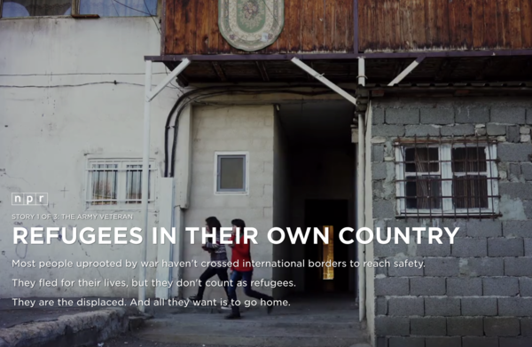 A project on internally displaced people in the Eastern European country of Georgia.