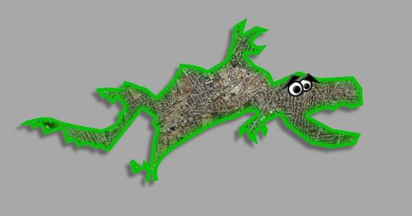 """Photo of """"the gerrymander"""" from The ReDistricting Game"""