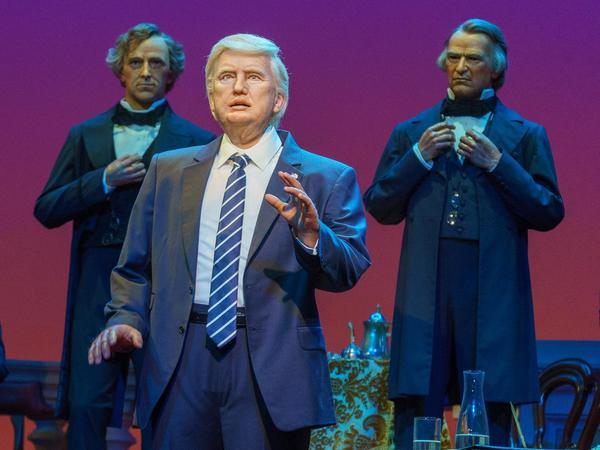 Walt Disney World unveiled its President Trump animatronic figure for the Hall of Presidents attraction.