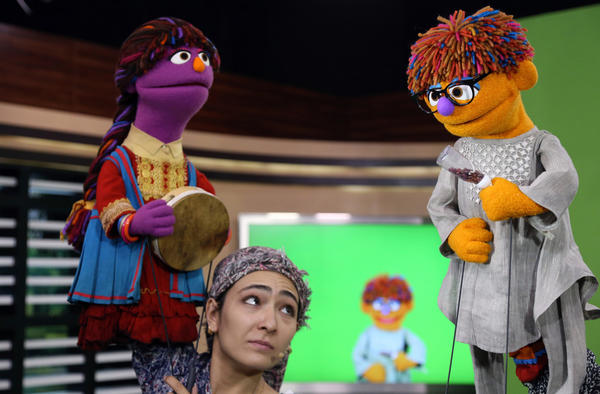 The MacArthur Foundation has awarded $100 million to Sesame Workshop and the International Rescue Committtee to create a version of Sesame Street aimed at Syrian refugee children. Above: Characters from the Afghani version of the show that premiered this year.