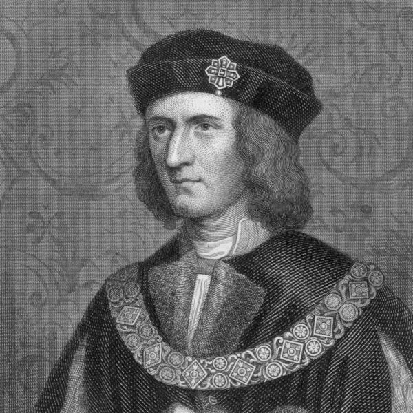 Circa 1480, King Richard III (1452-1485) wearing a chain of office.