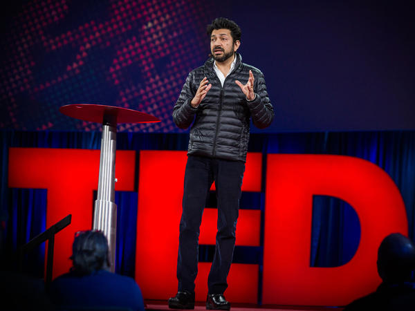 Siddhartha Mukherjee on the TED stage