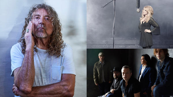 Robert Plant (left, credit: Mads Perch), Alison Krauss (top right, credit: Randee St. Nicholas), Jason Isbell (bottom right, credit: Danny Clinch)